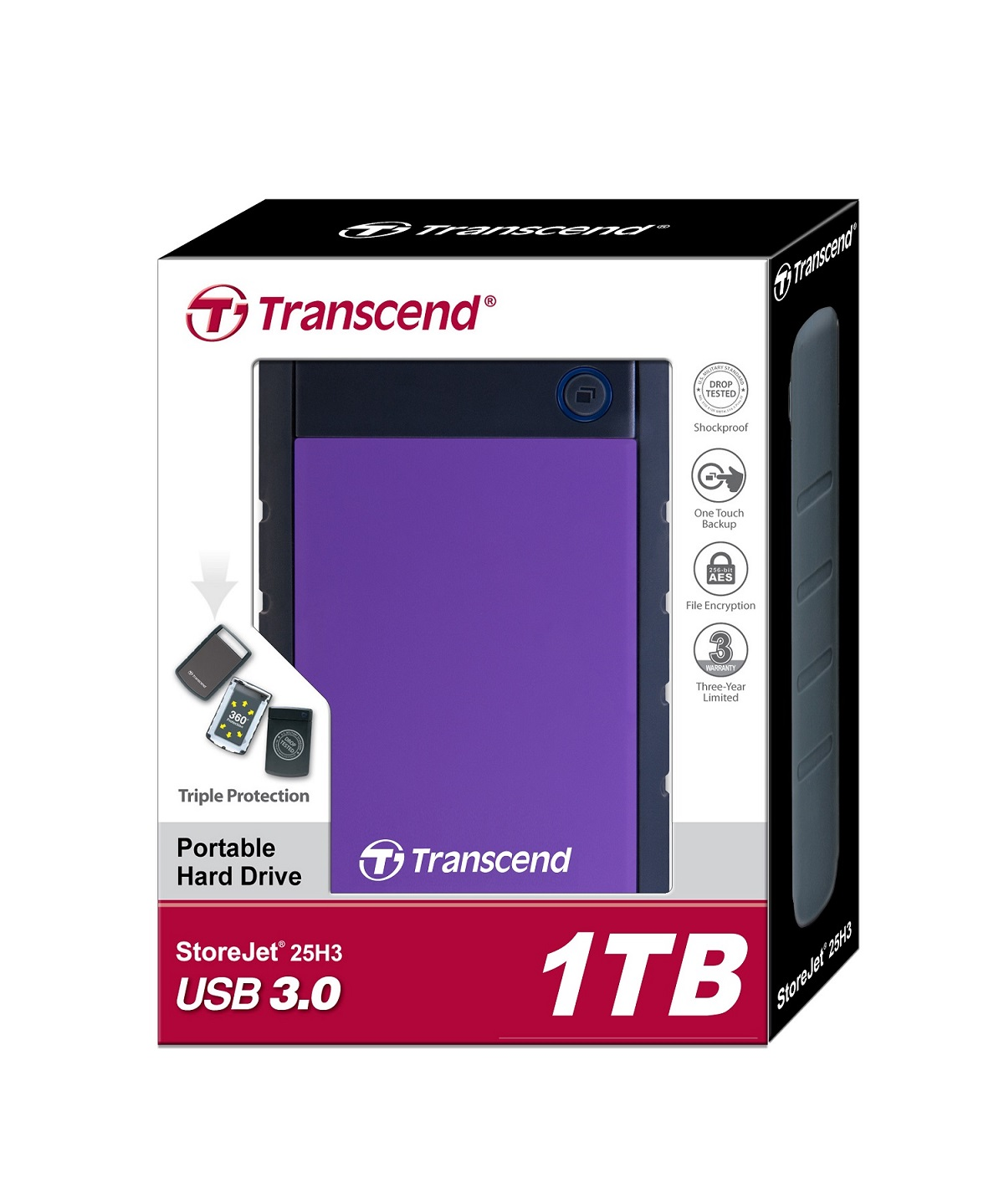 Εξωτερικός Δίσκος TRANSCEND RUGGED 1TB TS1TSJ25H3P USB 3.0 2.5""