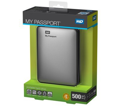 Western Digital HDD Passport USB 3.0 500GB Silver WDBKXH5000ASL