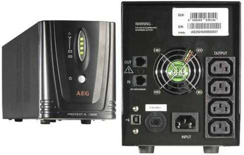 AEG UPS 1000V Protect A Line Interactive 600W AVR