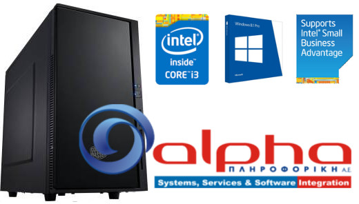 Alpha PC i3-3240 3.4G/4G/120GbSSD+500Gb/HDIntel #RFB