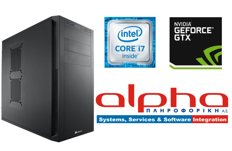 Alpha PC Power i7-6700 3,4Ghz/16Gb/120GB1T/GTX1070/BDR Win10GR64