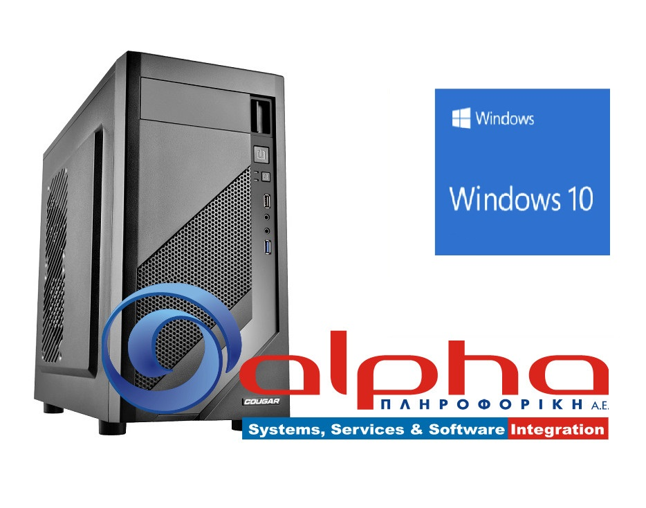 Alpha PC Office i3-7100 3,9Ghz/4G/1TB/GTX1050-2Gb/DVDRW Win10