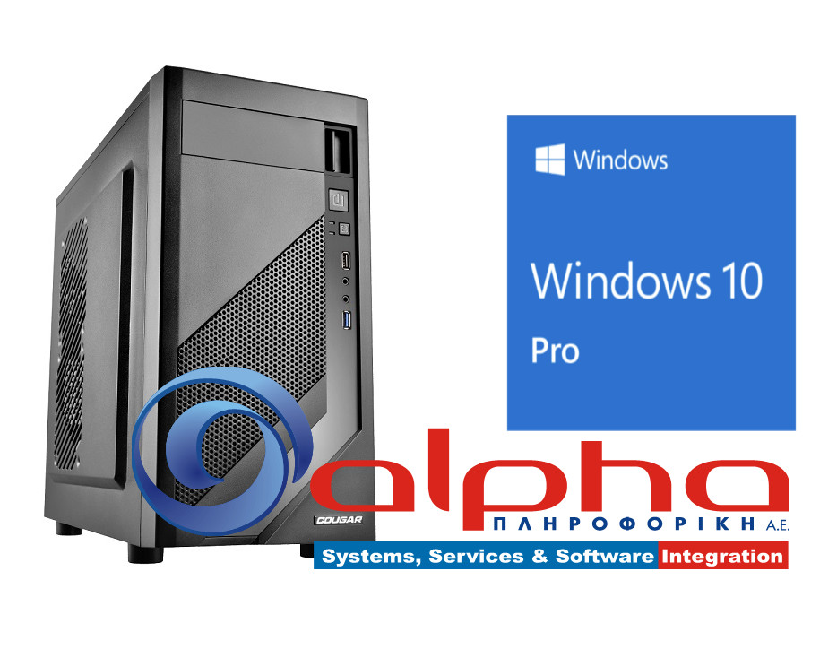 Alpha PC Office i3-7100 3,9Ghz/8G/256SSD/DVDRW Win10Pro