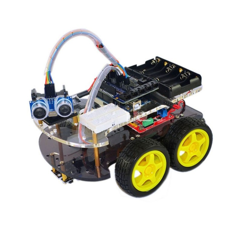 Arduino αυτοκινητάκι - Arduino car tracing obstacle advance 4WD