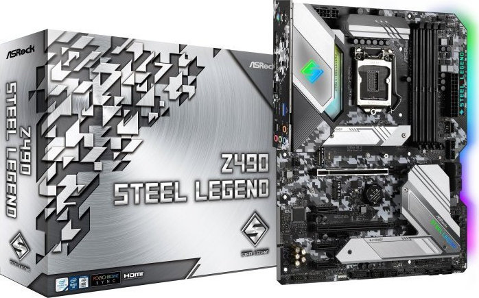 Μητρική Asrock Z490 STEEL LEGEND Z490/DDR4/IntelHD/s1200