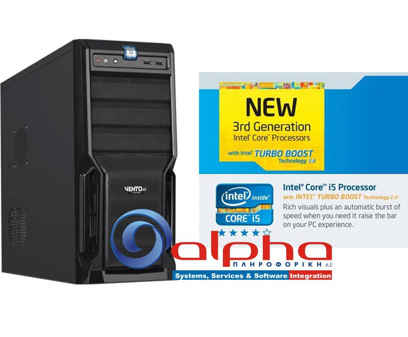 Alpha PC i5-6400 2,7Ghz/8Gb/480GBSSD/DVDRW Win10-PRO GR/64