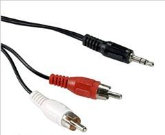 Καλώδιο ήχου Stereo 3.5mm Plug to 2RCA Plug 1,5m