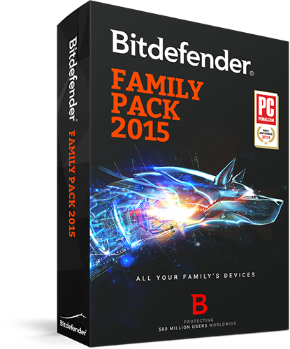 BitDefender Family Pack 2015 Unlimited D (3 Accounts)
