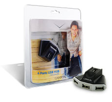 Canyon USB Hub 4port (CNR-USBHUB5) Μικρό μέγεθος Pocket Size