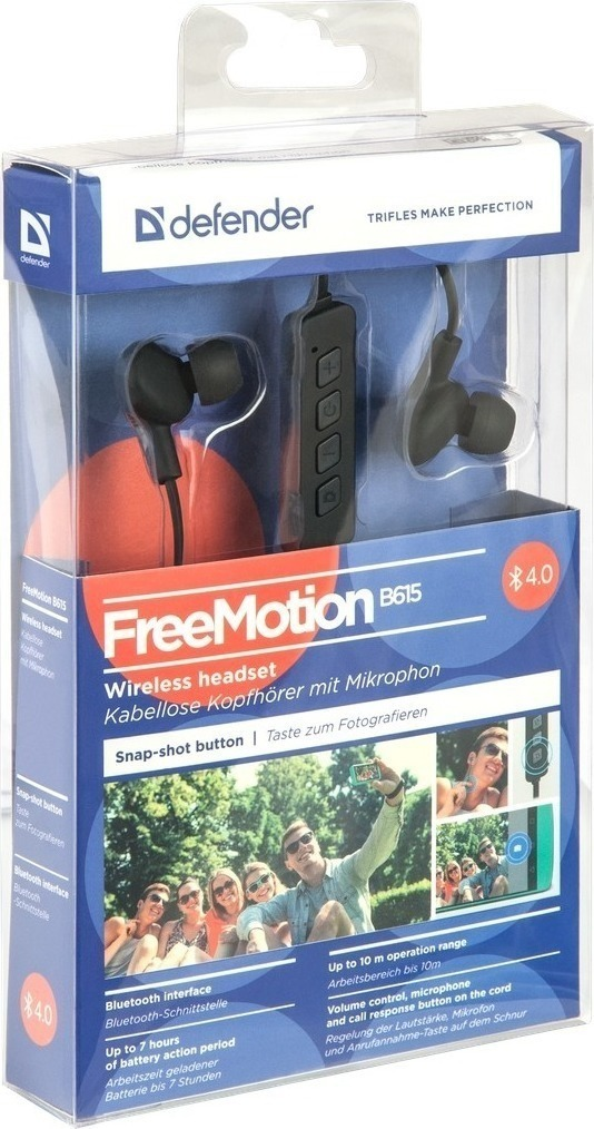 DEFENDER HEADSET FREEMOTION B615 BLUETOOTH BLACK
