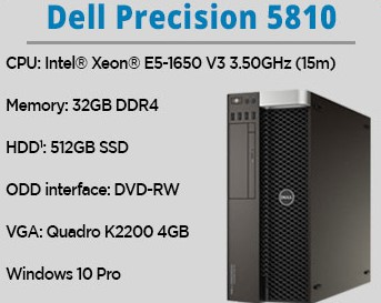 DELL WS Precision 5810 E5-1630/32GbDDR4/512SSD/Quad K2200-4Gb/Wi