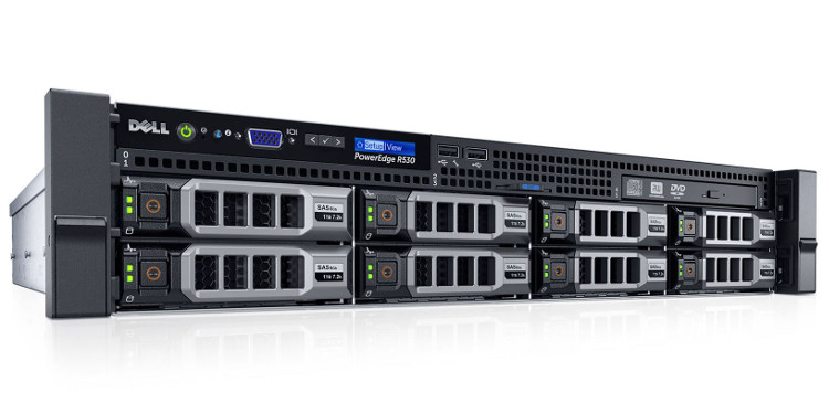DELL Server PE R530 Intel Xeon E5-2630v3/8GB/2x300GB/h73 Rack 5Y