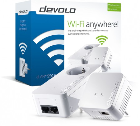 DEVOLO Powerline dLAN 550 WiFi Starter Kit 9638