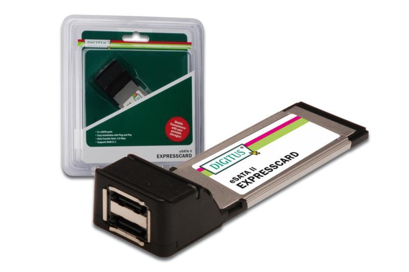 Digitus ExpressCard to 2 Port e-Sata II DS-31102
