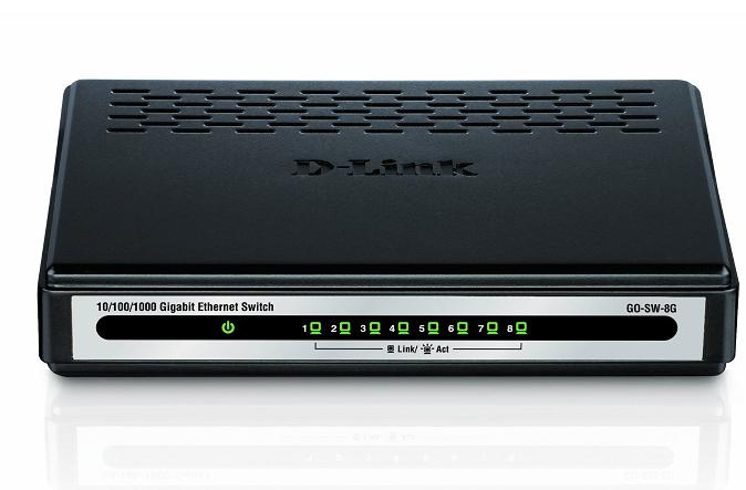 D-Link 5port Gigabit Switch GO-SW-5G 10/100/1000 Mbps
