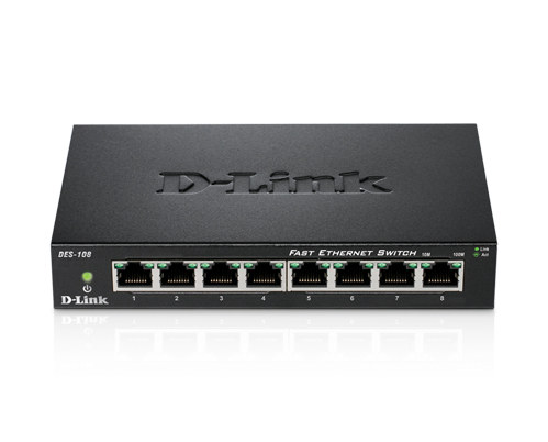 D-Link Switch DES-105 5-port 10/100Mbps Steel Case