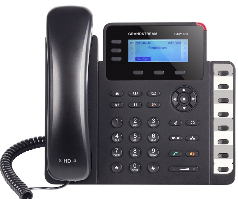 Τηλέφωνο IP Grandstream GXP1630 IP Phone (with PoE) 3SIP+8Keys