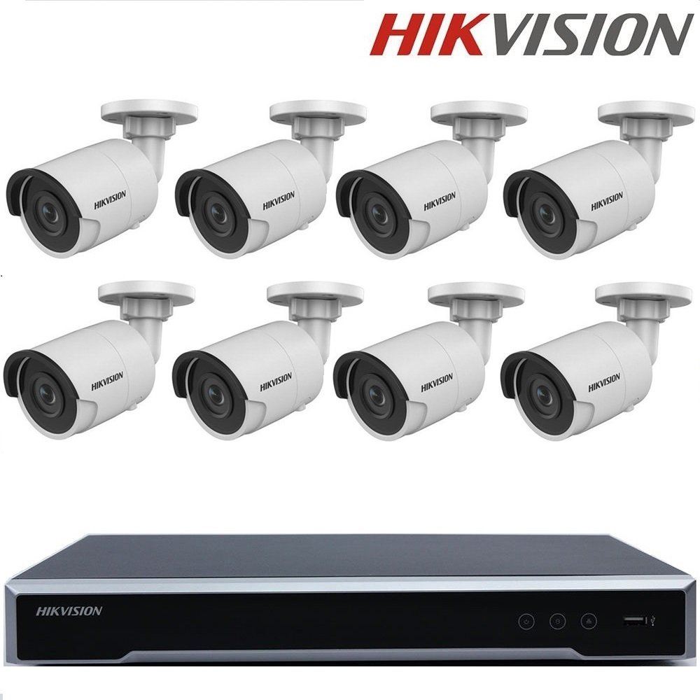 Καταγραφικό Hikvision DS-7608NI-K2 + 8x 2Mp IP Bullet + 3Tb WDp