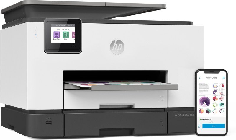 HP Officejet Pro 9020 A4 24ppm PSC-FAX U-L-W 1Y 1MR78B
