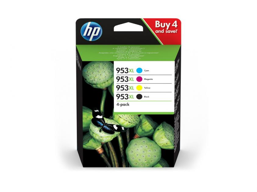 HP No953XL 4-PACK CMYK 3HZ52AE 2.000/1.600pgs