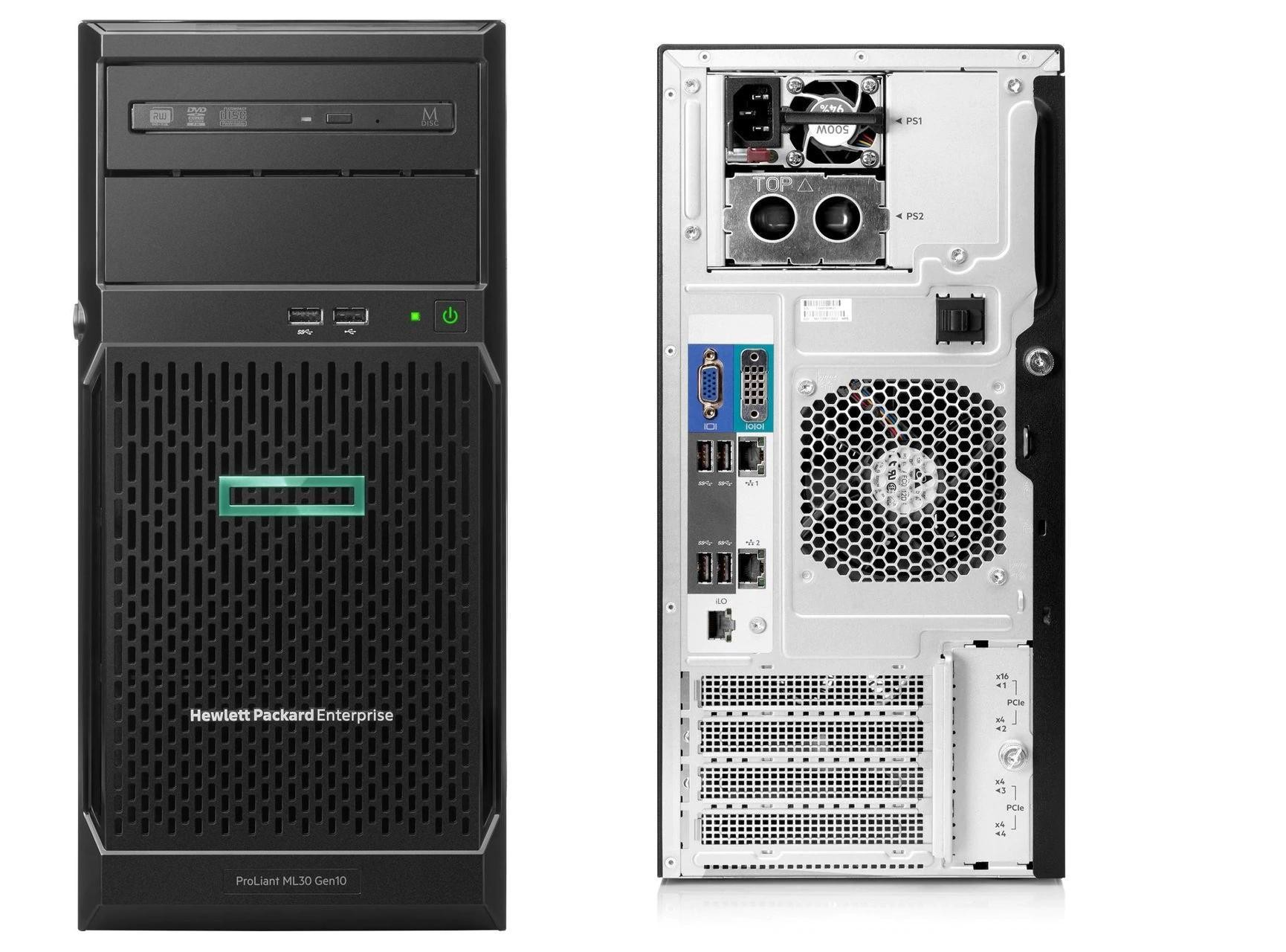 HP ProLiant ML30 Xeon Ε2224 32Gb 4x2Tb NoOS