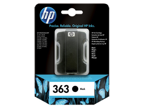 HP BLACK Cartridge C8721E no363 Vivera 410pages 6ml