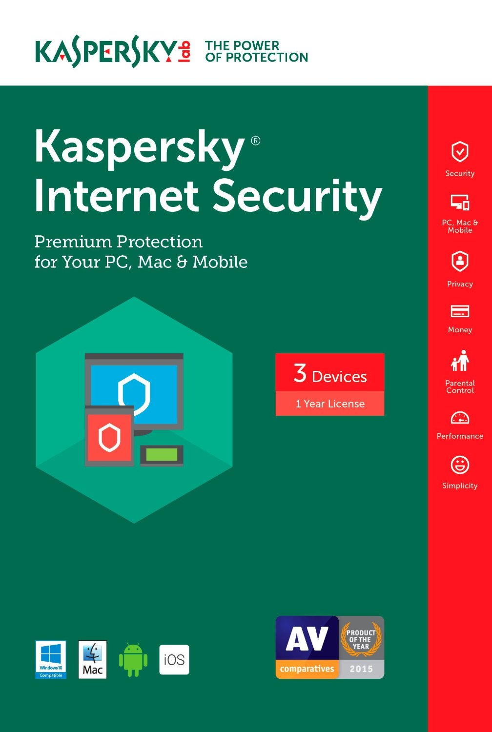 Kaspersky Internet Security 2017 3PC Multi Device