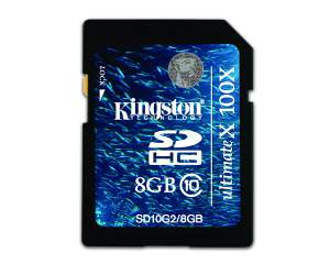 Kingston Secure Digital Flash 8GB CARD (SD) Memory SD10G2/8GB
