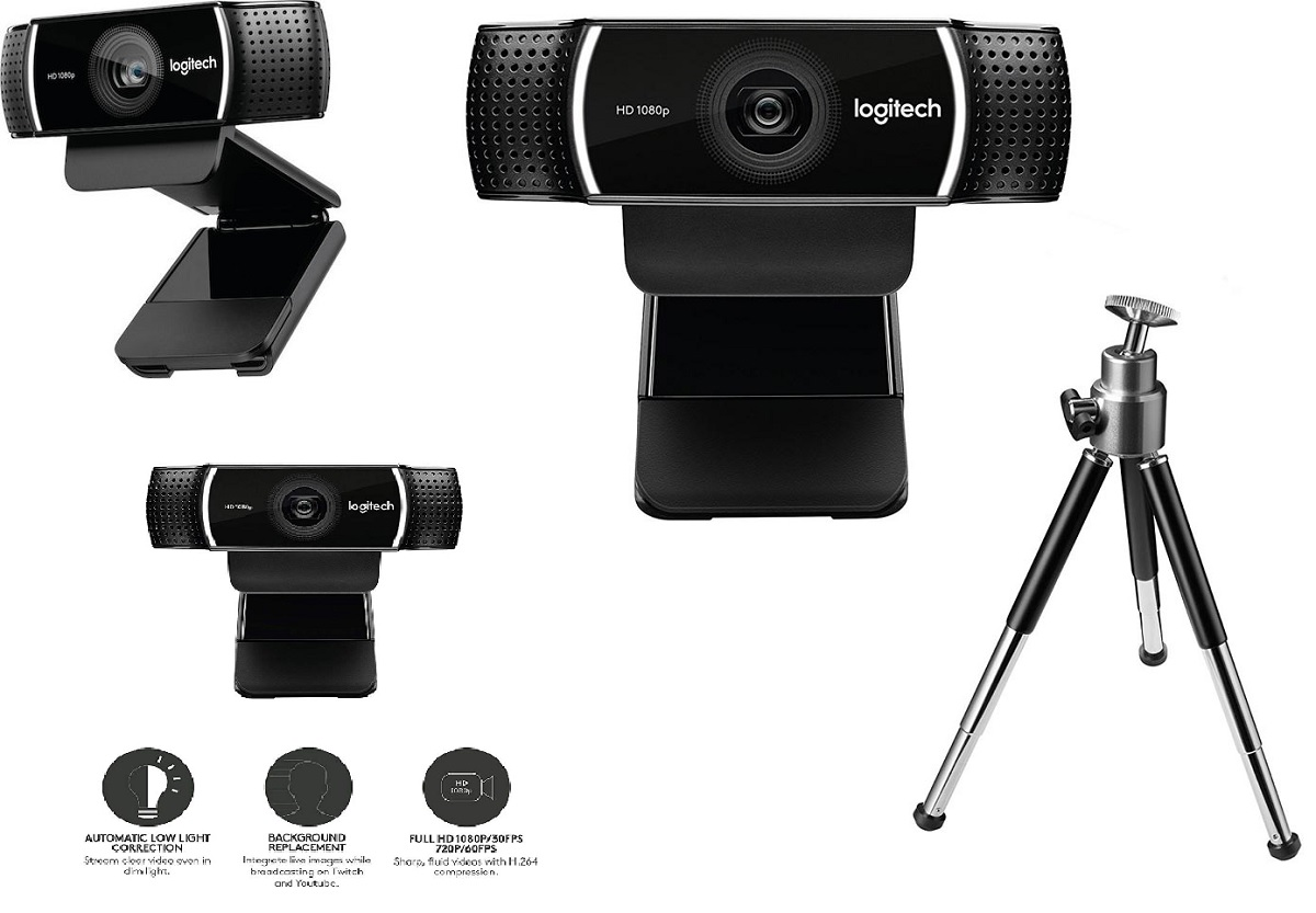 LOGITECH Webcam C922 PRO Full HD 960-001088 15Mp
