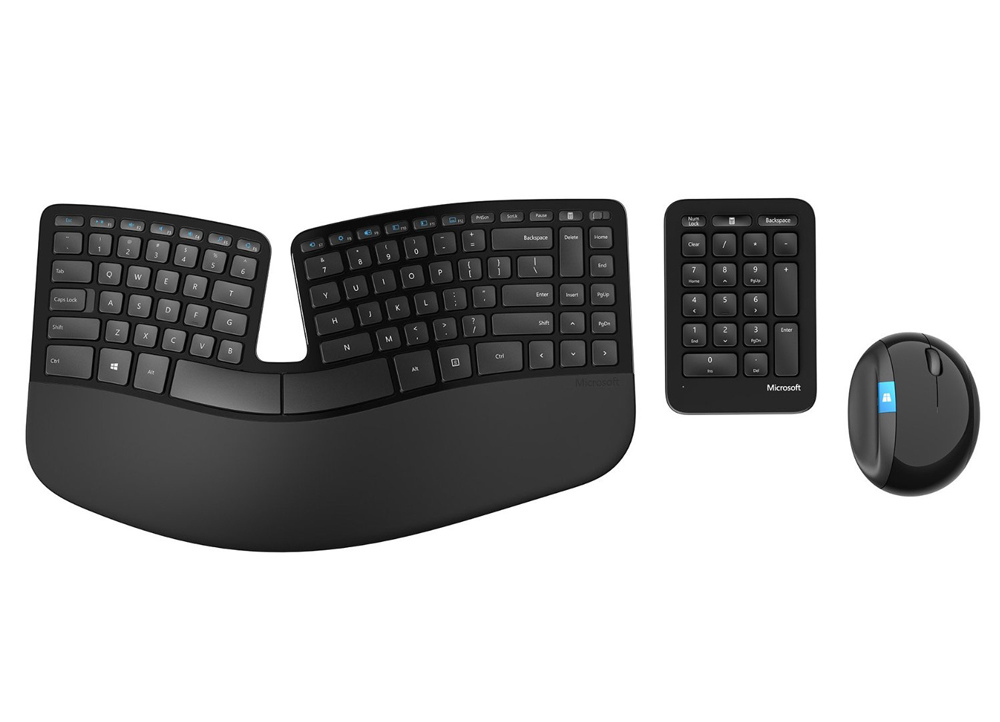 Microsoft Wireless Sculpt Ergonomic Desktop Πληκτρολόγιο-Ποντίκι