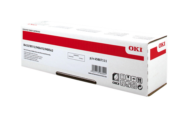 Toner OKI B432/ΜΒ492 Black Okipage 12000pages 45807111
