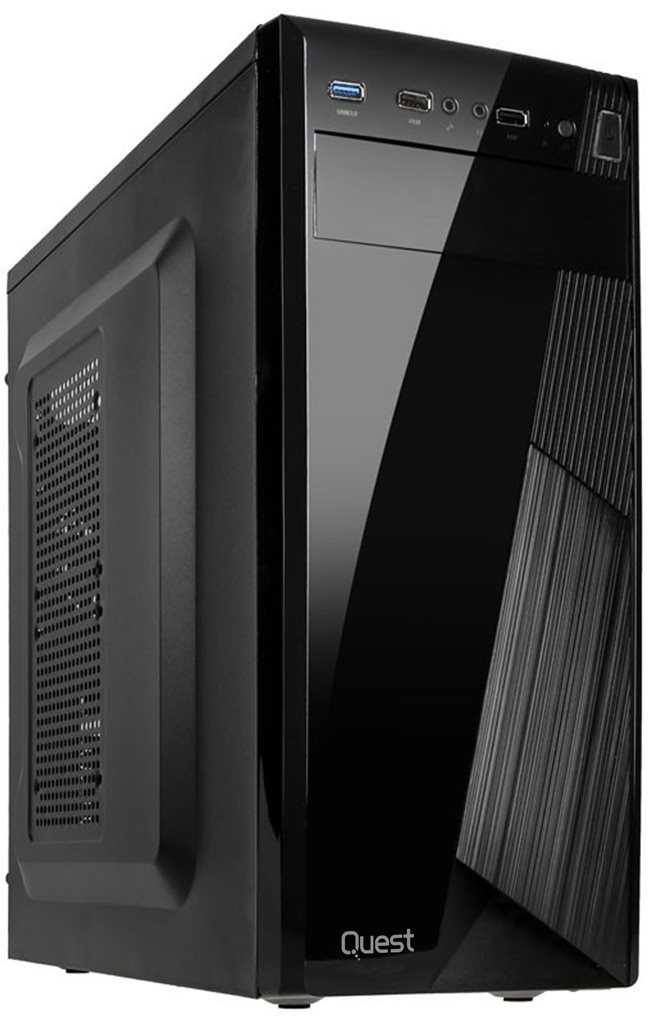 Quest PC Ryzen Gaming 5 2400G/8Gb/256SSD+1TB/GTX1050/Win10