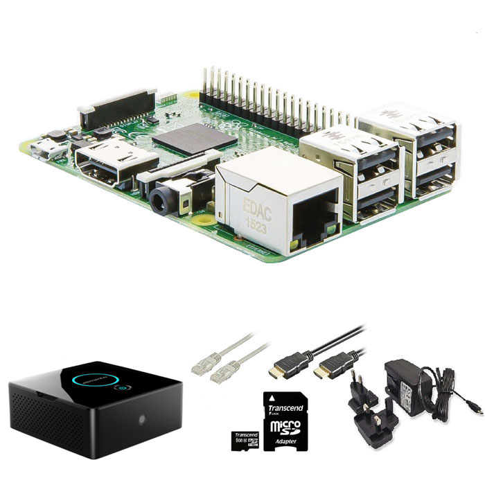 Raspberry Pi Mini Desktop Kit WiFi Quad/1-16Gb/PSU