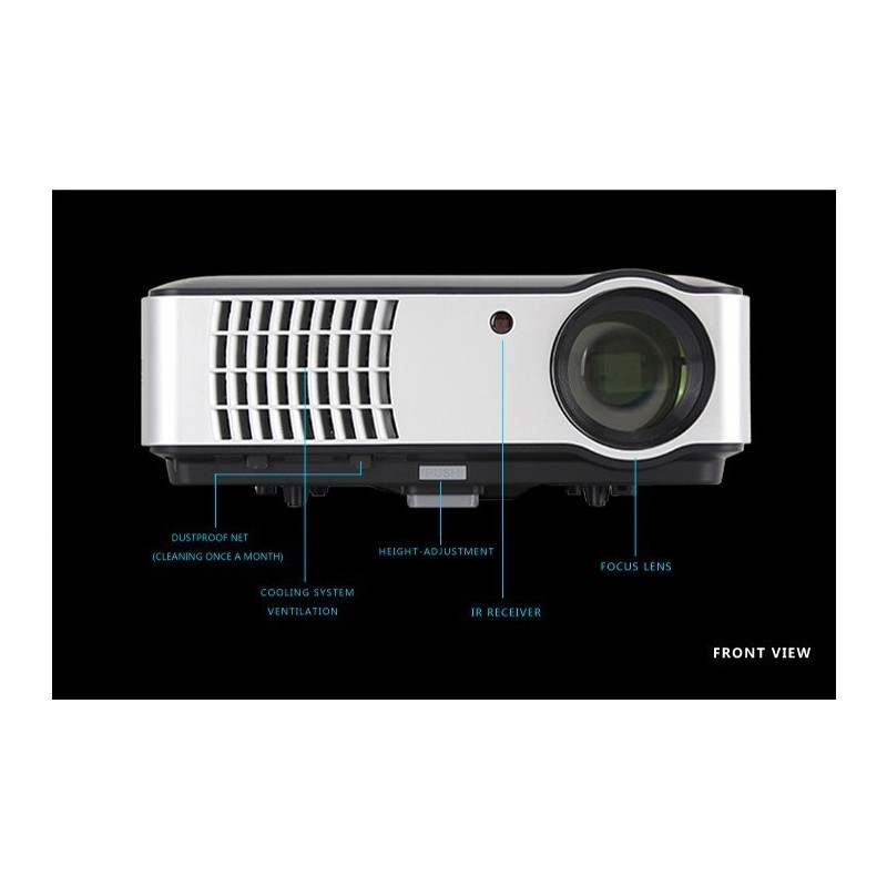 Multimedia Projector LED 2800ANSI 1280X800/HDMI/Home Theater