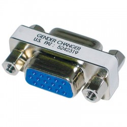 Adaptor Gender Changer VGA 15pin Female/Female (F/F) DB15F/DB15F