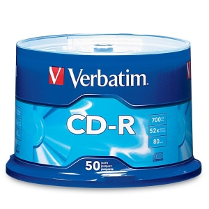 VERBATIM CD-R 700MB/52x/50PACK/43351