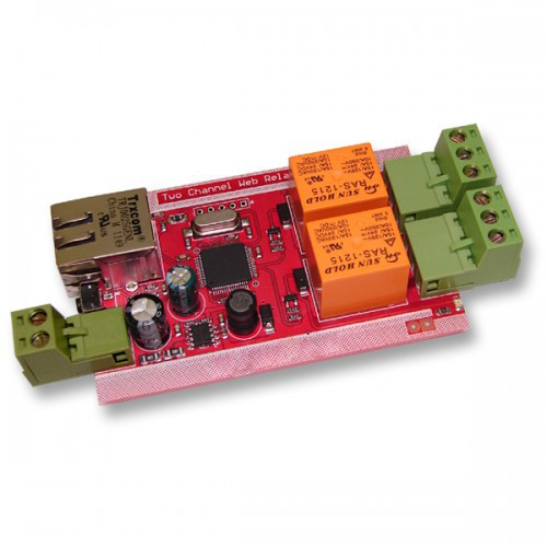 Web Relay Two Channels IP Controller PCB W2CR