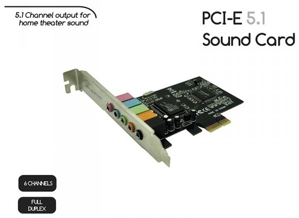 Κάρτα Ήχου 5.1 PCI Express 32bit 5.1 Sound